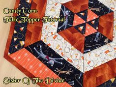 Could make for any Season/or as a Christmas Tree Skirt! Sister Of The Divide: Candy Corn Table Topper Tutorial