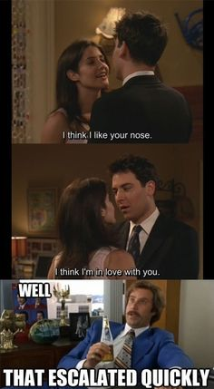 Well, that escalated quickly haha How I met your Mother and Ron Burgundy in the same post got to love that Himym Memes, How Met Your Mother, Well That Escalated Quickly, Ted Mosby, I Meet You, Mother Quotes, Just For Laughs, Best Shows Ever, The Funny