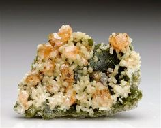 Grossular Garnet with Diopside and Clinochlore