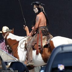 Brave: Johnny Depp as Tonto on Set of the Lone Ranger in Los Angeles