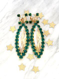 Orecchini smeraldo Smeraldo orecchini istruzione di iloniti