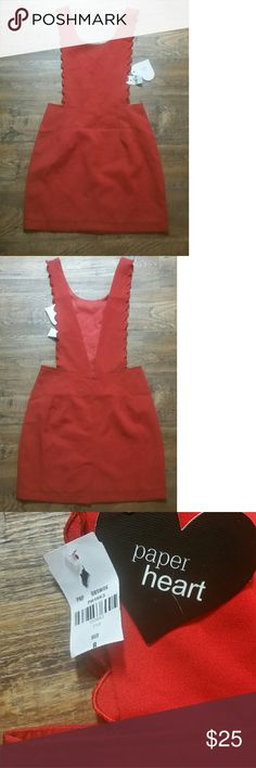 PRICE ⬇ Paper Heart red dress Paper heart red dress sz 8. This says a size 8 but runs small. More like a 6 paper heart Dresses