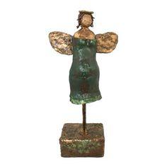 De Welgevormde Engel brons look beeld unicum - Made by Ellen Buchwaldt