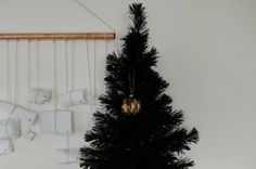 Black, white and metal Christmas Hege in France