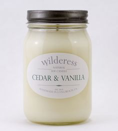 Cedar & Vanilla Soy Candle | Sure it might not always be convenient to curl up next to a ca... | Candles