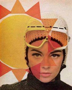 Astrid Heeren. 60s ski style.