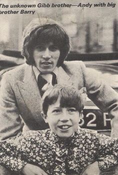 Barry and young Andy Gibb