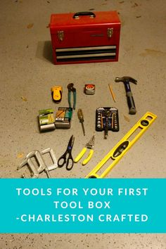 Basic Tool Kit, Basic Tools, Tool Board, Nails And Screws, Must Have Tools, Home Tools, New Homeowner, Tool Organization, Home Improvement