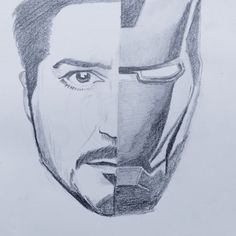 Pencil Sketch Portrait, Portrait Sketches, Pencil Art Drawings, Art Drawings Sketches, Disney Drawings, Thor Vs Thanos, Iron Man Drawing, Avengers Drawings, Iron Man Art