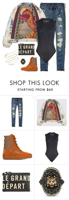 """Yeezy x Gucci"" by styleswavington ❤ liked on Polyvore featuring Hollister Co., Gucci, adidas Originals, Clare V., Sydney Evan and yeezyseason"