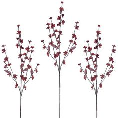 Red Cherry Blossom Stems, Set of 3 (€11) ❤ liked on Polyvore featuring home, home decor, floral decor, artificial flower arrangement, floral arrangement, red flower arrangement and artificial arrangement