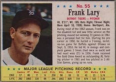 1963 Post Cereal #55 Frank Lary | The Trading Card Database New York Mets Baseball, Trading Card Database, Detroit Tigers, Cereal, Baseball Cards, Breakfast Cereal, Corn Flakes