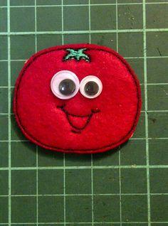Smiley Tomato Felt Fridge Magnet