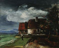 Paysage d'automne, Maurice de Vlaminck. French Fauvist Painter (1876 - 1958)