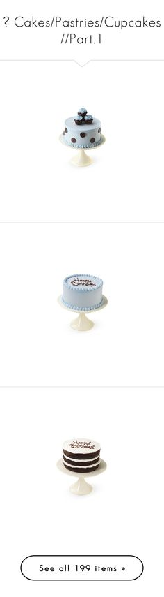 """""""🍰 Cakes/Pastries/Cupcakes //Part.1"""" by kell-monteiro ❤ liked on Polyvore featuring food, cakes, food and drink, comida, home, kitchen & dining, serveware, filler, cake stands and cake plate stand"""