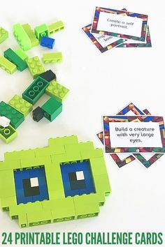 24 Printable Lego Construction Challenge Cards