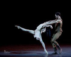 "Victoria Jaiani and Fabrice Calmels (Joffrey Ballet, Chicago, Illinois, USA), ""Othello"" choreography by Lar Lubovitch, Bolshoi Theatre, Moscow, Russia, 2016 Benois de la Danse Laureates Gala (May 18, 2016)"