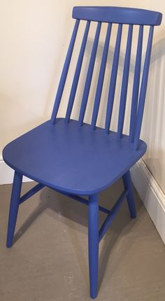 Vintage chair refinished in Frenchic Furnitiure Paint's Pool Boy Painted Chairs, Painted Furniture, General Finishes, Vintage Chairs, Haunted Mansion, Milk Paint, Mustard Seed, Furniture Inspiration, Annie Sloan