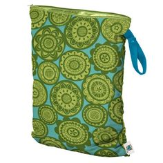 Planet Wise Wet Bag Large - Mulberry Street Diaper Co. (lime somersaults - size large)