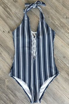 63e024bf6f Feeling tired and craving for a holiday? Cupshe Shallow Waters Print One-piece  Swimsuit is just for you! Sweet floral printing, lace up at back design.