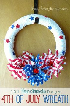 101 Handmade Days: 4th of July Wreath - Busy Being Jennifer