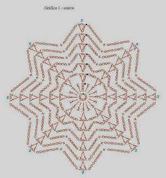 Best 7 beautiful, beautiful, christmas center in crochet. View and share – Crochet Designs Free – SkillOfKing. Crochet Symbols, Crochet Motifs, Crochet Potholders, Crochet Diagram, Crochet Doilies, Crochet Flowers, Crochet Stitches, Crochet Snowflake Pattern, Crochet Stars