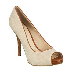 """Peep toe pump with 4 1/2"""" heel & 3/4"""" platform. This style is available exclusively @ Nine West Stores & ninewest.com."""