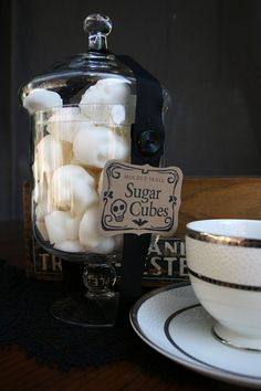 Skull sugar cubes! I need these before my next tea party. $30