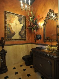 Bathroom Ideas:  Picture of a Urn :Powder Rooms