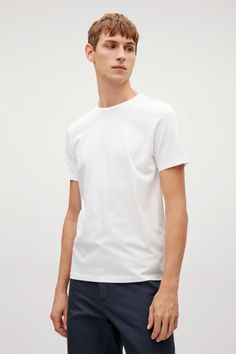 COS image 1 of Round-neck t-shirt in White