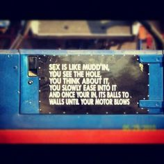 Sex is like mudding sticker