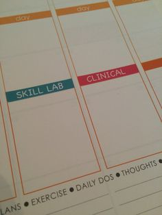 Nursing School Planner Stickers for Erin Condren by ThePaperNurse