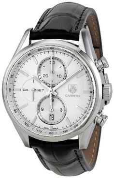 Tag Heuer Men's CAR2111.FC6266 Carrera Silver Dial Dress Watch TAG Heuer. $3181.35. Antireflective sapphire. Automatic. Case diameter: 41 mm. Water resistant to 100 M (330 feet). Dress watch, stainless steel case