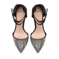 VAMP SHOE WITH ANKLE STRAPS Height of heel: 6,5 cms./ 2,56 inches. $49.90