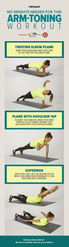 No Weights Needed For This Arm-Toning Workout   Fit Villas