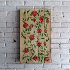 woodpainting 40 x 70 x 2 cm  #woodpainting #woodsign #homedecoration #homeandliving #vintage #alldecos #indonesia #flower #shabby