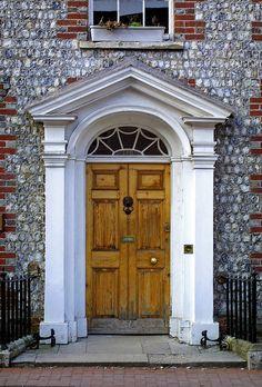 Georgian Front Door,    Lewes, East Sussex, England, UK