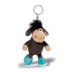 New Nici Sheep Jolly Leroy 4in 10cm Plush Doll Bag Keyring Key Holder Chain…