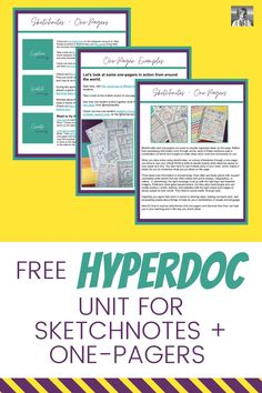 Want to try hyperdocs for your blended learning units, but aren't sure how to start? In this blog post, I'll show you how to create your own hyperdocs easily inside Google Slides, and also share a free example with you of a hyperdoc you can use to introduce sketchnotes and one-pagers. | one-pagers | hyperdocs | sketch notes | English teacher | distance learning English Teachers, English Classroom, Teaching English, Creative Curriculum, Creative Teaching, High School English, Sketch Notes, Blended Learning, Teaching Strategies