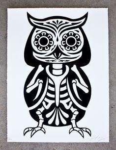 Owl sugar skull