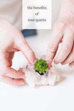 Learn all about the benefits of Rose Quartz and other crystals over on jojotastic.com (and learn how to make these boho crystal planters a super easy and fun DIY craft)