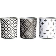 H&M 3-pack candles ($6.08) ❤ liked on Polyvore featuring home, home decor, candles & candleholders, fillers, candles, accessories, black, black home decor, h&m and unscented candles