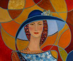 Jarkowe oczy,60x50,olej (Krystyna Ruminkiewicz, Artist)