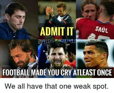 Just a game they said. have you ever cried for football? Funny Football Memes, Soccer Quotes, Just A Game, Make You Cry, European Football, Soccer Training, Laugh Out Loud, Crying, Baseball Cards