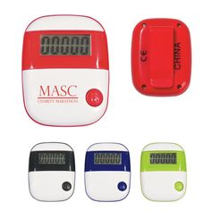 The Custom Pedometer – Simple Step is a simple design with a big feature- the ability to record the number of steps you make! Makes a great health focused giveaway promotional product.