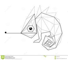 Afbeeldingsresultaat voor chameleon lowpoly