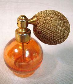 Vintage Carnival Glass Perfume Atomizer Bottle