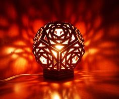 DIY geometric sphere lamp