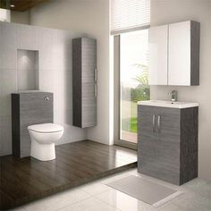 Brooklyn Grey Avola Vanity Furniture Package