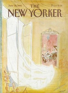 """The New Yorker - Monday, June 1982 - Issue # 2993 - Vol. 58 - N° 19 - Cover by : """"Sempé"""" - Jean-Jacques Sempé The New Yorker, New Yorker Covers, Book Cover Art, Book Cover Design, Graphic Design Illustration, Watercolor Illustration, Magazine Art, Magazine Covers, New Yorker Cartoons"""